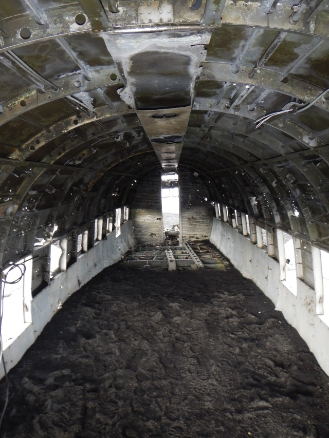 Inside of crashed plane