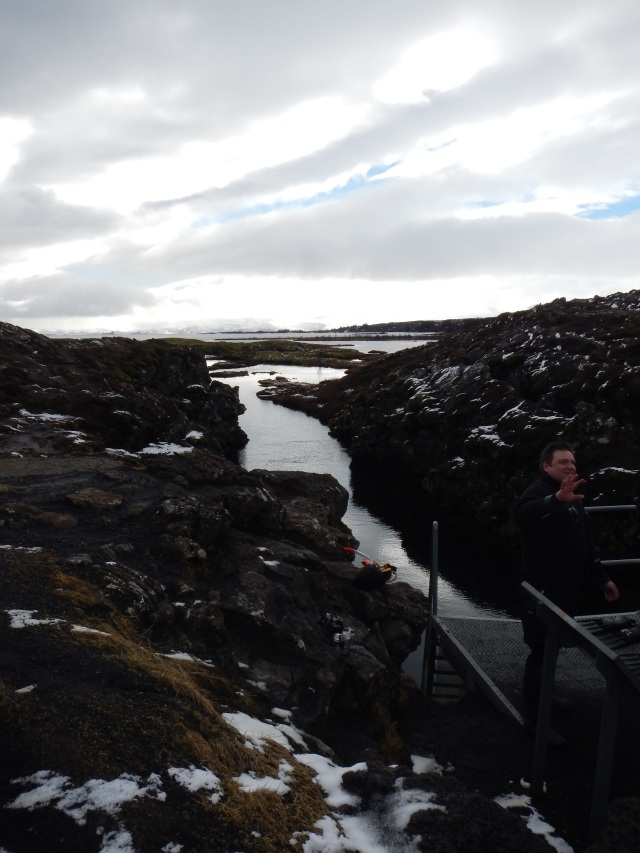 Getting in to snorkel between the tectonic plates